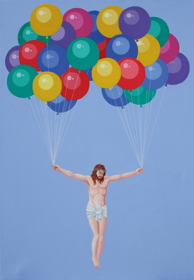 Cristo dei palloncini - Giuseppe Veneziano