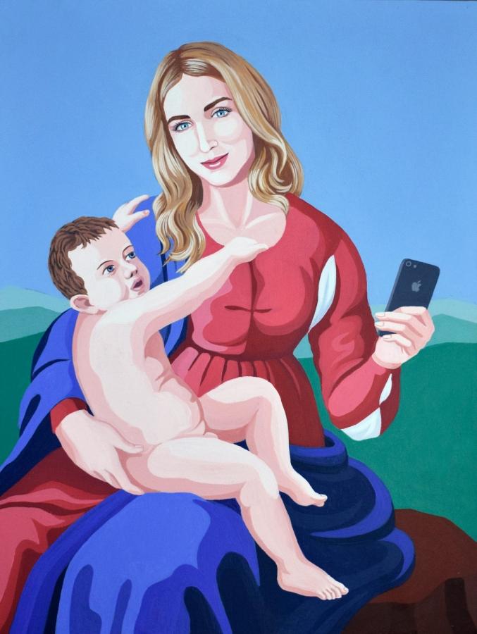 La Madonna di Instagram - Giuseppe Veneziano