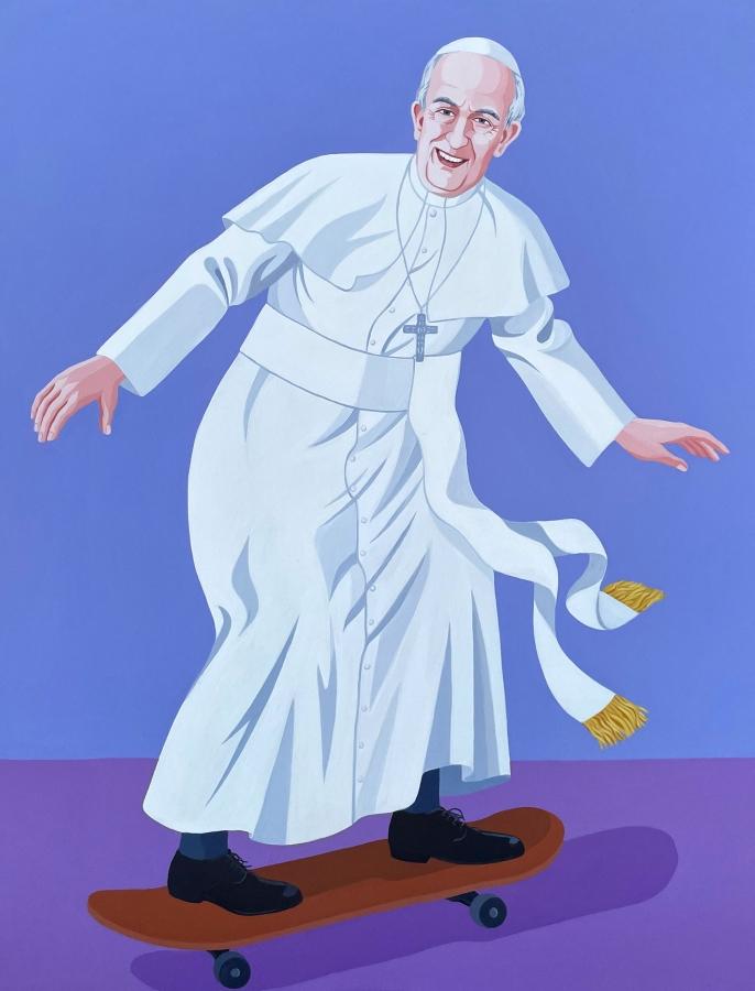 Skate Pope - Giuseppe veneziano